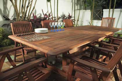 Garden Furniture Decking wonderful garden furniture on decking table and benches with